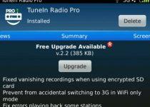 TuneIn Radio blackberry