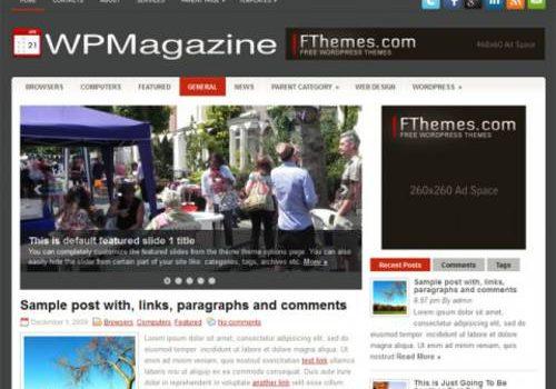 WPMagazine: Uno de los mejores temas para blog en Wordpress