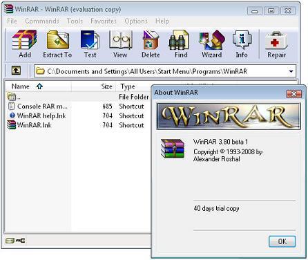 WinRAR Beta ultima version