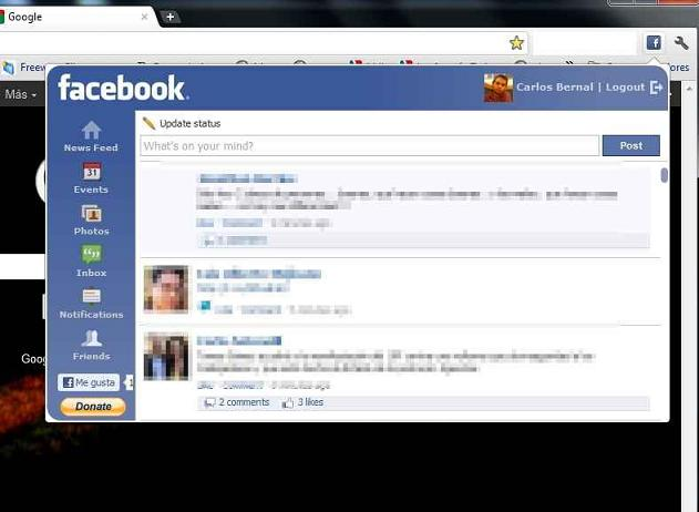 FBChrome: El complemento de Google Chrome para la red social Facebook