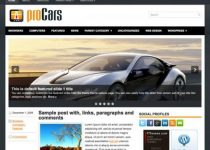 ProCars: Tema interesante para tu blog en Wordpress