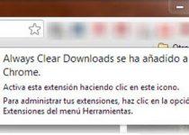Always Clear Downloads: Herramienta que limpia la barra de descargas de Google Chrome