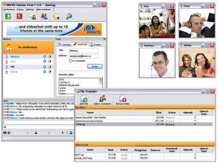 BRAVIS Galaxee 4Free: Obtén videoconferencia con personas a la vez