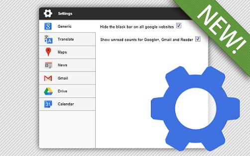 Black Menu: Integra el menú de Google en tu Google Chrome