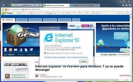 Internet Explorer 10: Disfruta del nuevo Internet Explorer 10
