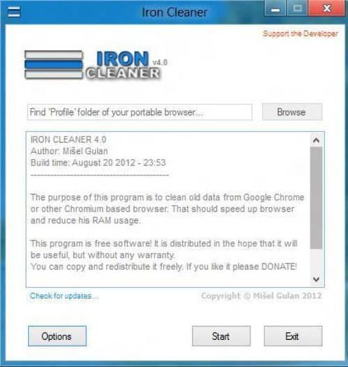 IronCleaner: Agiliza Google Chrome y navega sin esperar demasiado