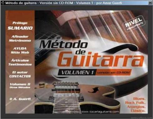 Método de Guitarra: Aprende a tocar con el curto volumen de enseñanza