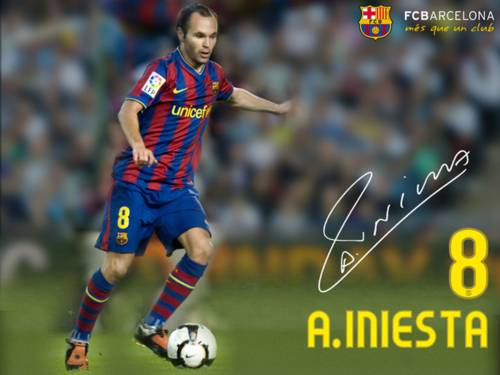 Wallpaper MVP UEFA 2012: Fondo de Escritorio Andrés Iniesta