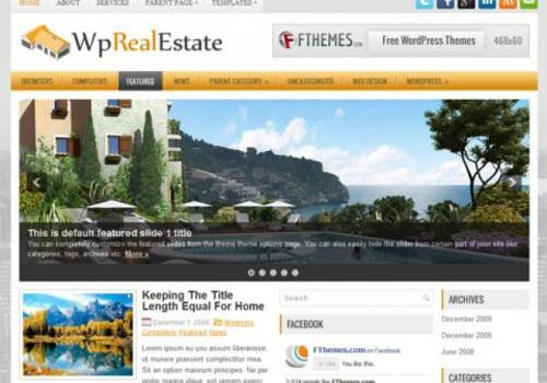 WpRealEstate: Usa este tema buenazo para tu blog en Wordpress