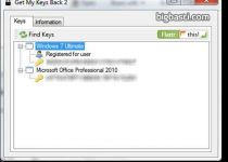 Get My Keys Back: Recuperador de los números de serie de Windows y Office