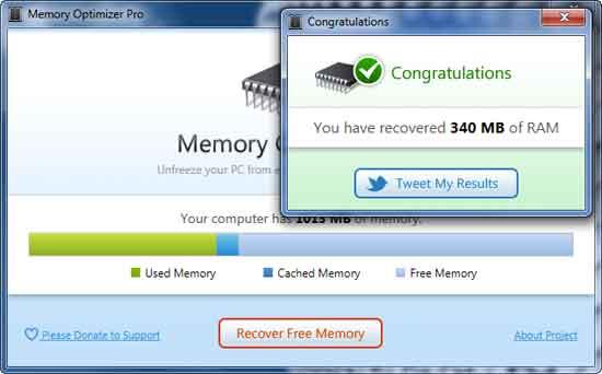 Memory Optimizer: Sencillísima aplicación que te ayudará a optimizar tu memoria