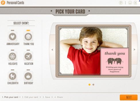 Personal eCards: Crea fácilmente atractivas tarjetas virtuales