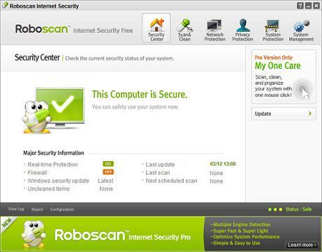 Roboscan Internet Security Free: Nuevo e interesante antivirus gratis