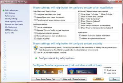 Sunrise Seven: Saca a la luz todo las opciones ocultas de Windows 7