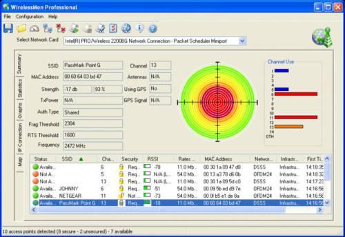 WirelessMon: Localizar, optimiza, mapea antenas de conexión inalámbrica
