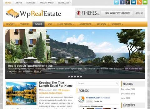 WpRealEstate: Un nuevo tema para blog en WordPress estilo magazine