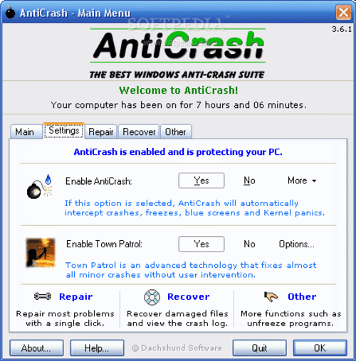 Anticrash: Protege su Windows de cuelgues, errores, congelaciones de programas