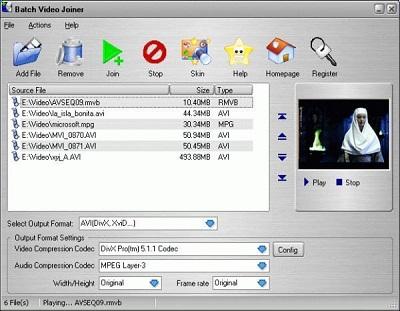 Batch Video Joiner: Herramienta que une y combina múltiples formatos de vídeo