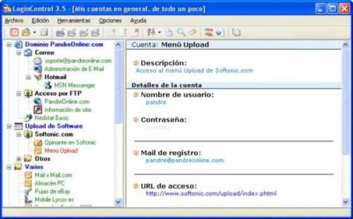 LoginControl: Gestor de contraseñas y cuentas de usuario para todo tipo de aplicaciones