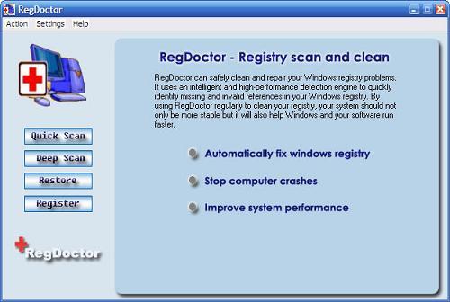 RegDoctor: Corrige el registro de Windows y mejora el rendimiento del sistema