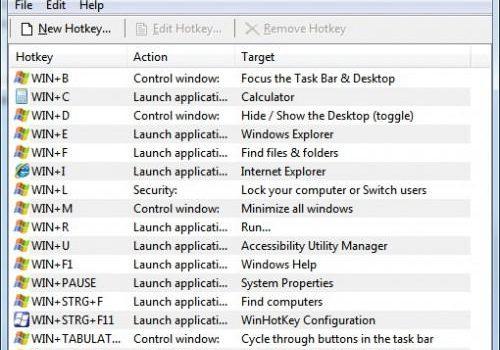 WinHotkey: Modifica todos los accesos directos del sistema en Windows
