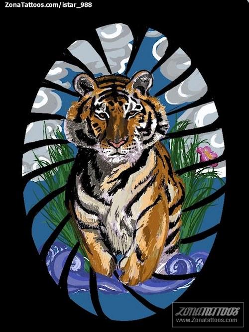 plantilla tigre
