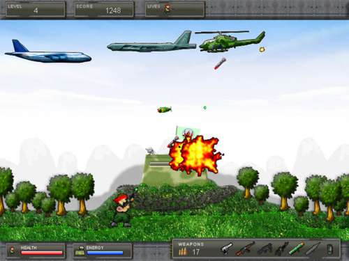 Air Invasion: Un juego de guerra defendiendo una base militar