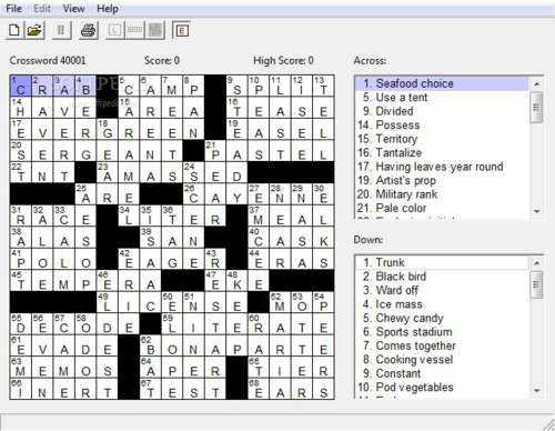 Boatload of Crosswords: Juega con miles de crucigramas