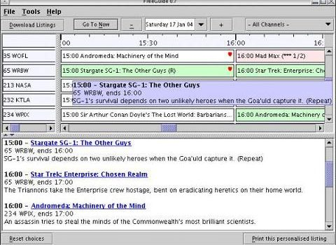 FreeGuide TV Guide: Uan guía televisiva muy personalizable para tu pc