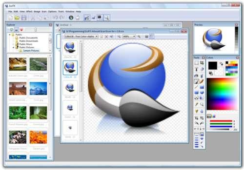IcoFX Portable: Uneditor de icono muy bueno