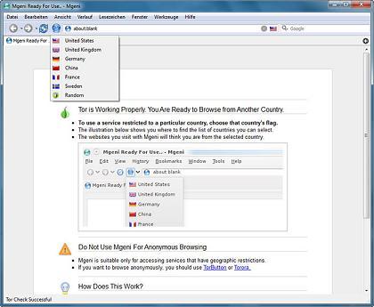 Mgeni: Navega rápidamente y accede a sitios web bloqueados