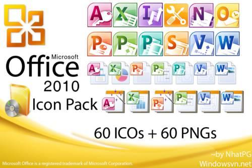 Microsoft Office 2010 IconPack: Colección de todos los iconos de Microsoft Office 2010