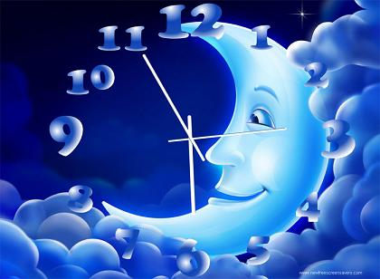 NewFreeScreensaver Moon Clock