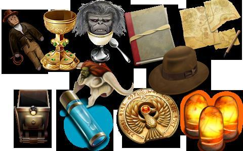 Obten cinetos de iconos de Indiana Jones