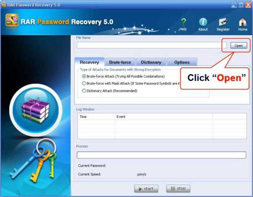 RAR Password Recovery 5.0: Hackea fácilmente contraseñas de archivos WinRAR