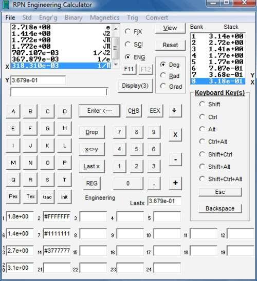 RPN Engineering Calculator: Soluciona cálculos de ingeniería complejos
