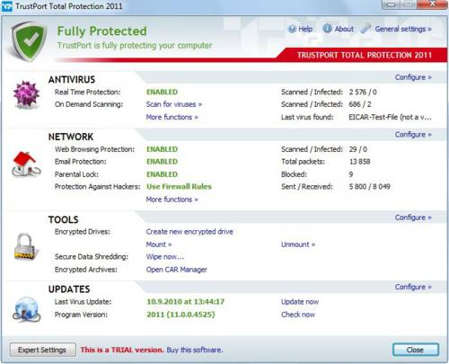 TrustPort Total Protection: Un antivirus muy ligero y completo