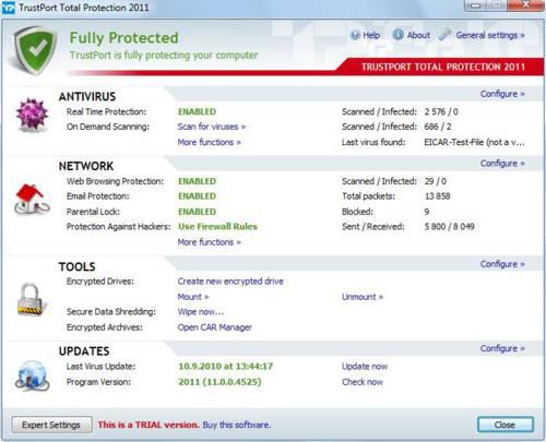 TrustPort Total Protection: Un antivirus muy ligero y completo