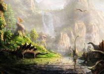 Un paisaje muy hermoso del Mundo de los Dinosaurios