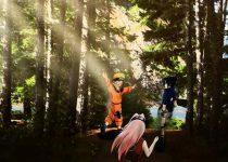 Naruto en Bosque como fondo de escritorio