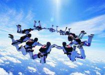Sorprendente fondo de paracaidistas