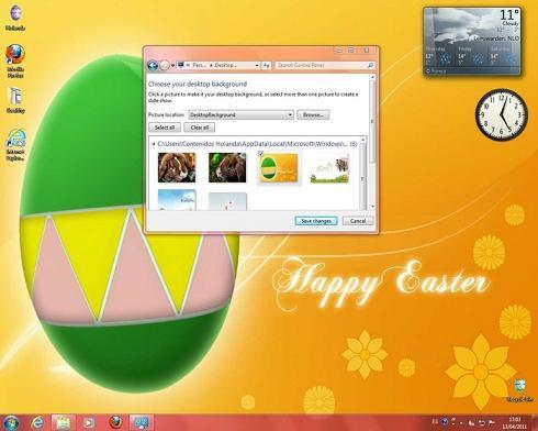 Windows 7 Easter Theme: Un tema bonito de Pascua para Windows 7