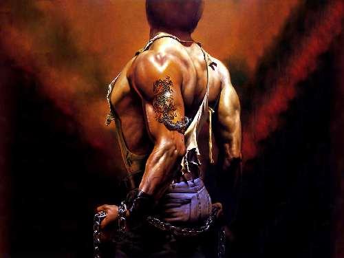Fondo de hombre musculoso tatuado para pc