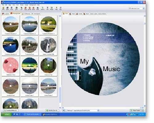Acoustica CD-DVD Label Maker: Crea carátulas profesionales para tus CD y DVD