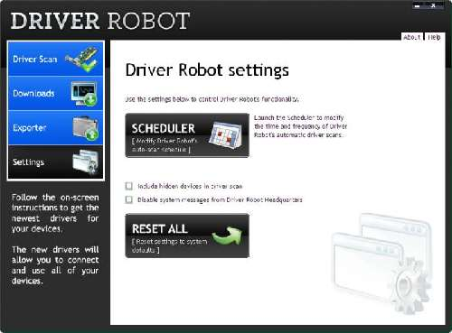 Driver Robot: Detector de actualización de software