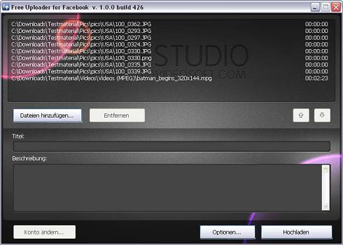 Free Uploader for Facebook: Herramienta para subir fotos y vídeos a Facebook