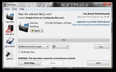 Hardwipe Portable: Borra archivos para siempre desde el pendrive