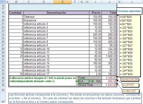modelo de facturas en excel