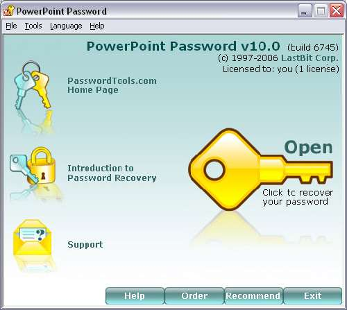 PowerPoint Password Recovery: Recupera contraseñas de Power Point