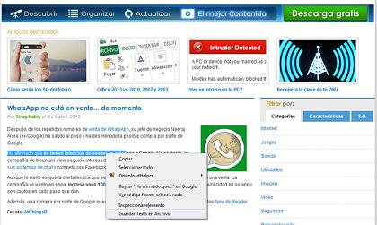Save Text to File: Guarda cualquier texto de una web directamente en un archivo